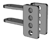 PA-T-101, Hitch Adjustable, 80high